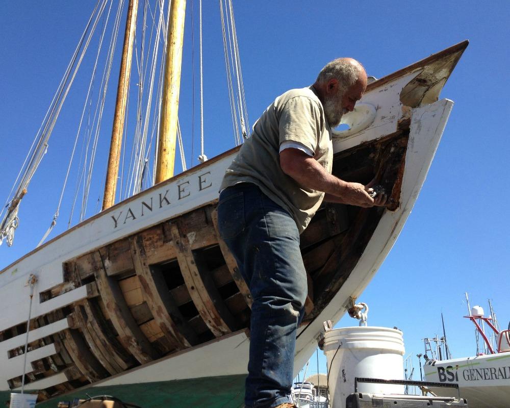 Wooden Hull Repair KKMI Bay Area Boat Builders Repairs and Shipyard 800x1000