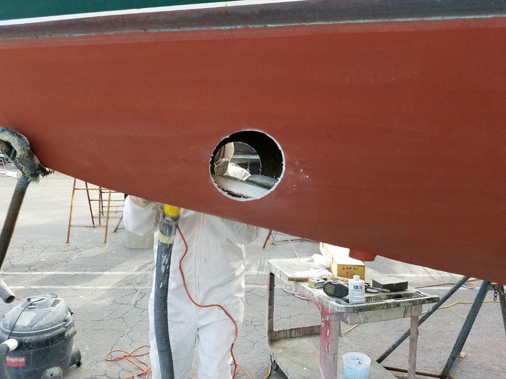 KKMI Premier Bay Area Boat Yard Bow Thruster Installation 2