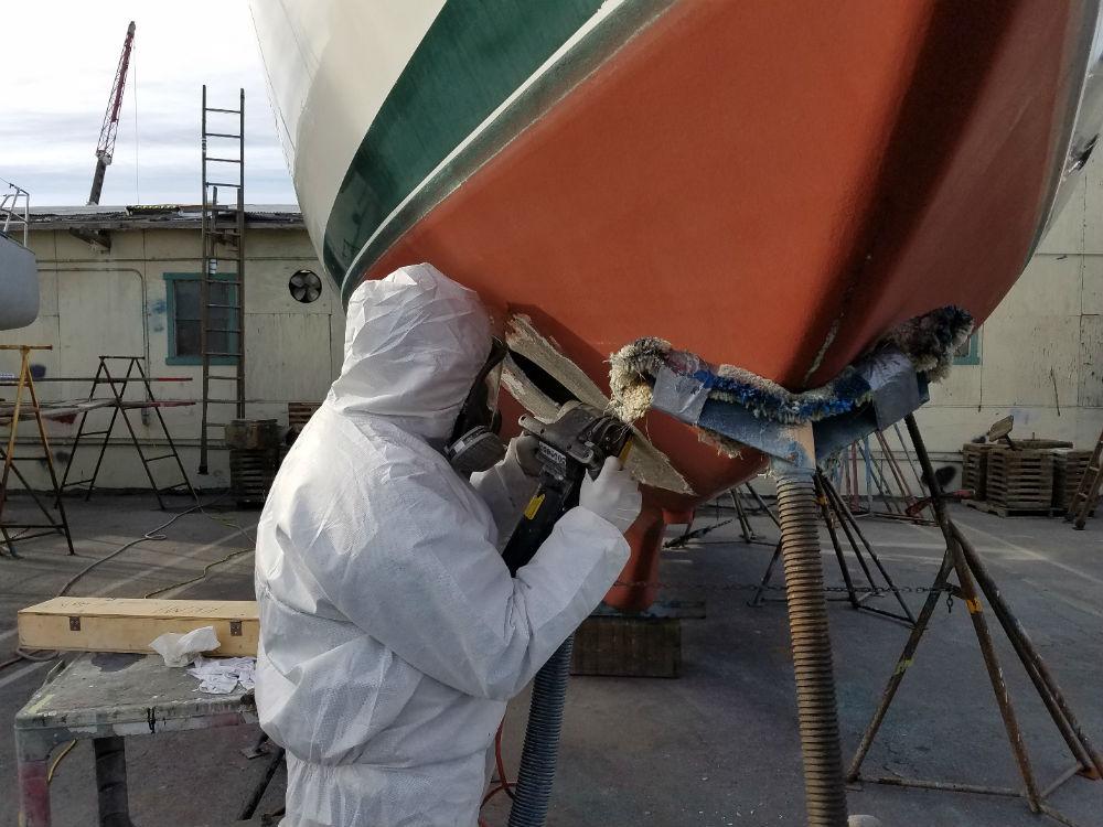 KKMI Premier Bay Area Boat Yard Bow Thruster Installation 3