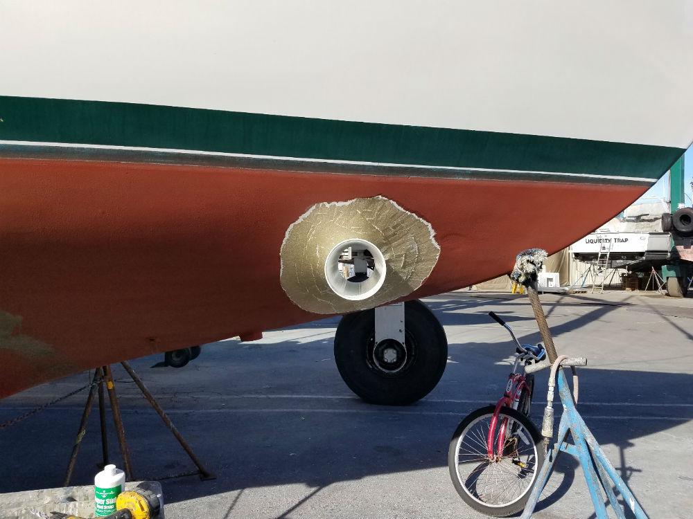 KKMI Premier Bay Area Boat Yard Bow Thruster Installation 4