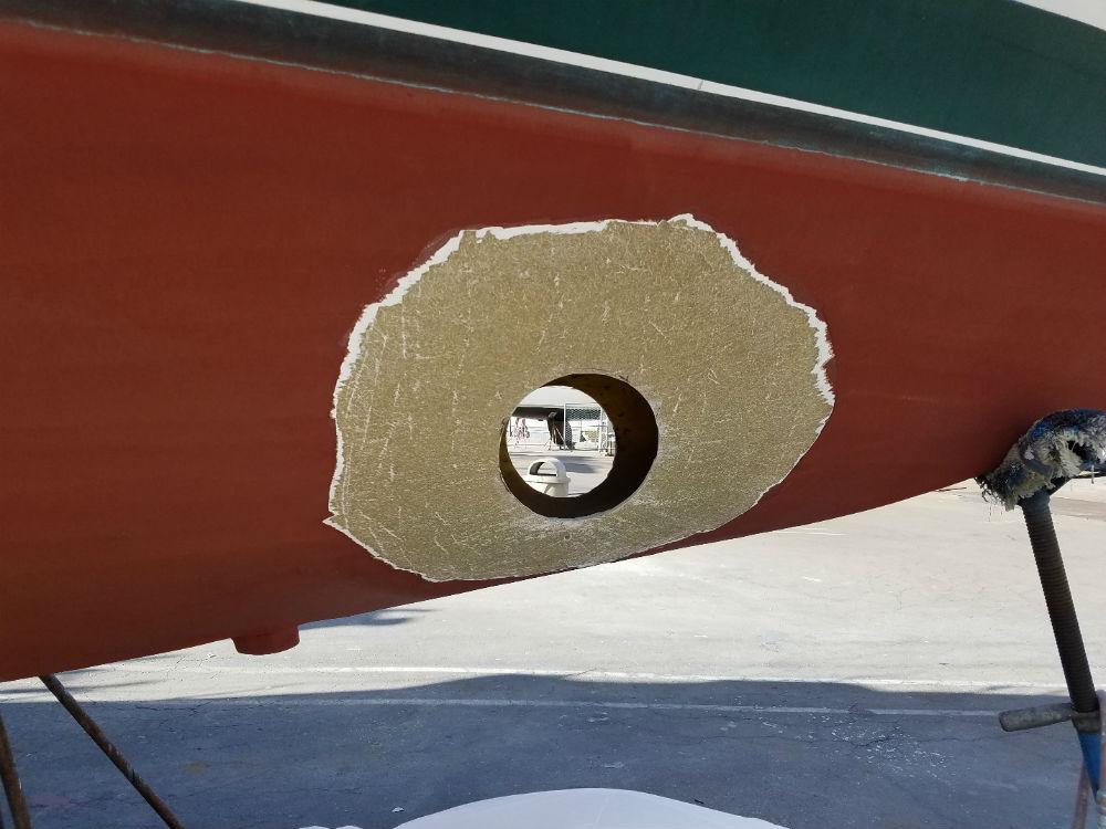 KKMI Premier Bay Area Boat Yard Bow Thruster Installation 5