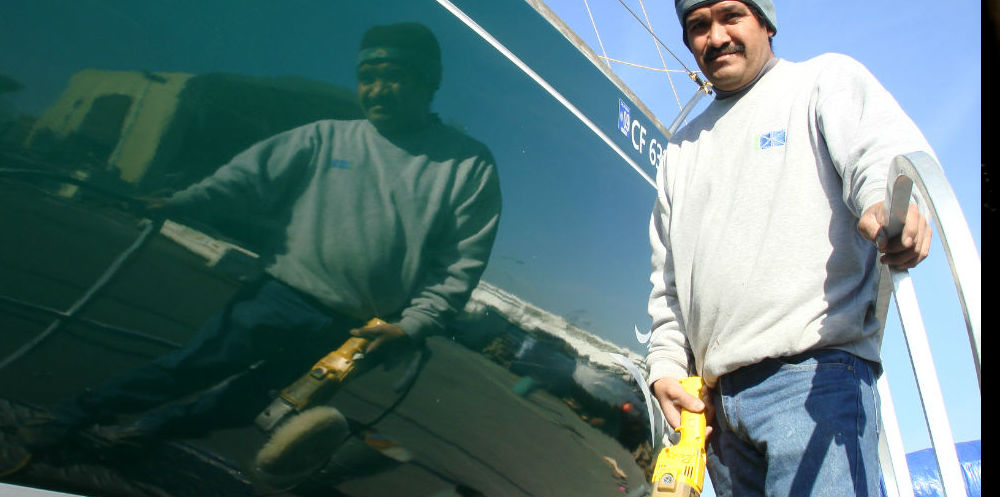 KKMI Premier Bay Area Boatyard Waxing and Detailing 1