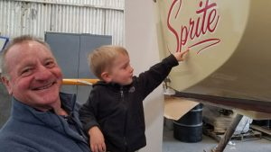 Paul and his grandson admire their Cal20 Sprite