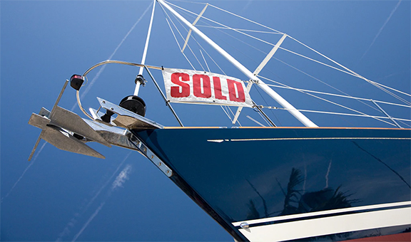 Boat with Sold Sign
