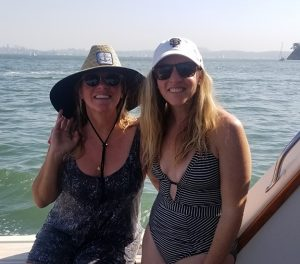 Sarah and Erica on the Boat