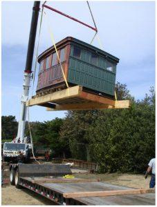 USS Suisun Pilot house moved to Kaplan residence