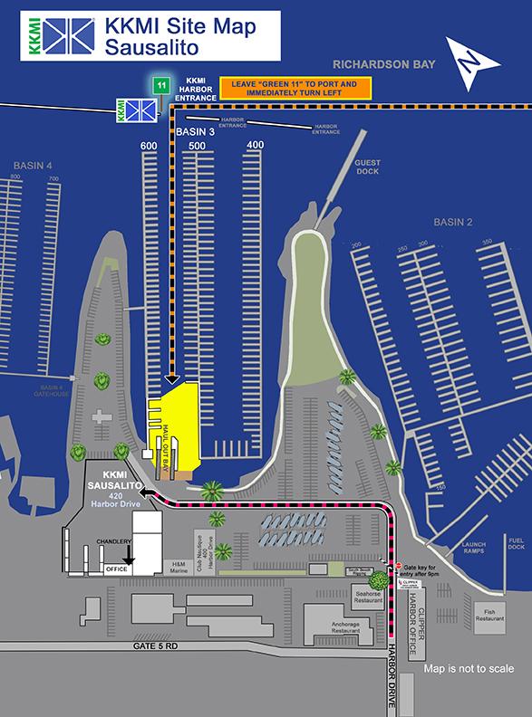 Map of the Sausalito KKMI location